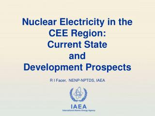 Nuclear Electricity in the  CEE Region: Current State  and  Development Prospects