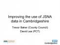 Improving the use of JSNA data in Cambridgeshire