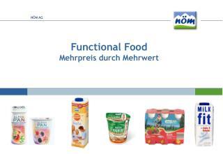 Functional Food Mehrpreis durch Mehrwert