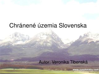 Chr�nen� �zemia Slovenska
