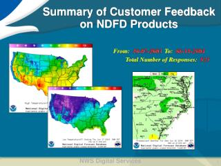 Summary of Customer Feedback on NDFD Products