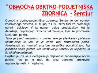 OBMOČNA OBRTNO-PODJETNIŠKA ZBORNICA  - Šentjur