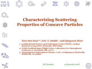 Characterizing Scattering Properties of Concave Particles