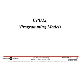 CPU12 (Programming Model)