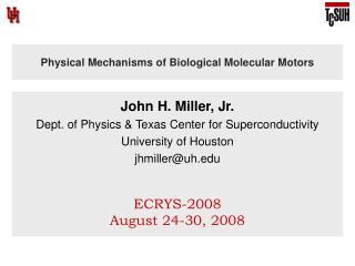 Physical Mechanisms of Biological Molecular Motors