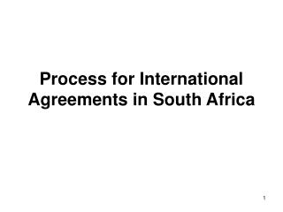 Process for International Agreements in South Africa