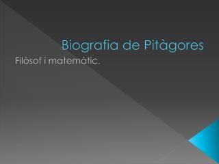 Biografia de Pitàgores
