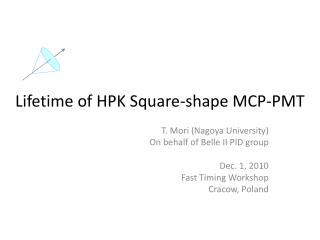 Lifetime of HPK Square-shape MCP-PMT