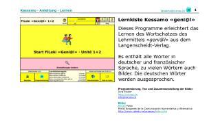 Kessamo · Anleitung · Lernen
