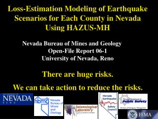 Loss-Estimation Modeling of Earthquake Scenarios for Each County in Nevada Using HAZUS-MH