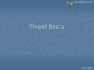 Thread Basics