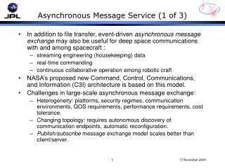 Asynchronous Message Service (1 of 3)
