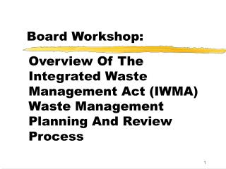 Board Workshop: