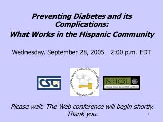 Preventing Diabetes and its Complications: What Works in the Hispanic Community