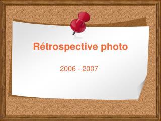 Rétrospective photo