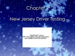 Chapter 2 New Jersey Driver Testing