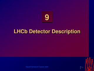 LHCb Detector Description