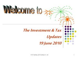 The Investment & Tax Updates 19 June 2010