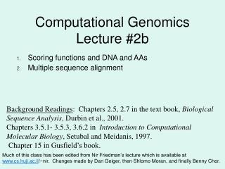 Computational Genomics Lecture #2b