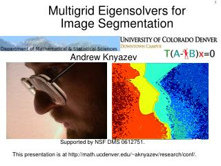 Multigrid Eigensolvers for Image Segmentation