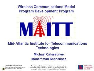 Wireless Communications Model Program Development Program