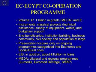 EC-EGYPT CO-OPERATION PROGRAMME