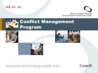 Conflict Management Program Transition Plan Update