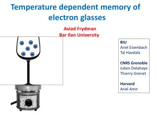 Temperature dependent memory of  electron glasses