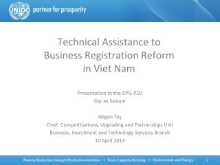 Technical Assistance to  Business Registration Reform  in Viet Nam