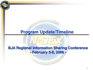Program Update/Timeline