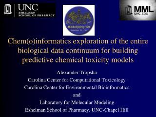 Alexander Tropsha Carolina Center for Computational Toxicology
