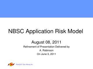 NBSC Application Risk Model