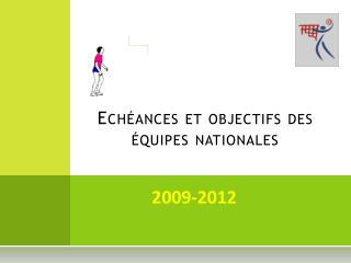 Echéances et objectifs des équipes nationales
