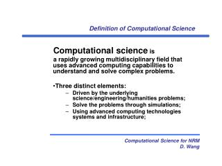 Definition of Computational Science