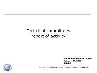 ALB Consumer Credit Council February 16, 2012 ALB HQ