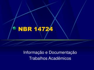 NBR 14724