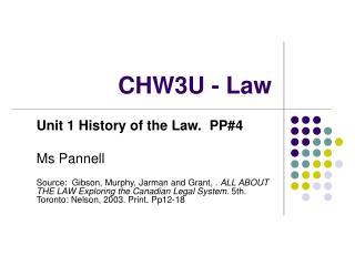 CHW3U - Law
