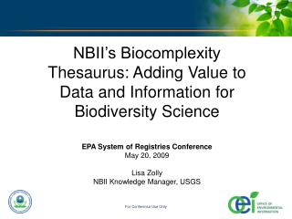 The National Biological Information Infrastructure (NBII)