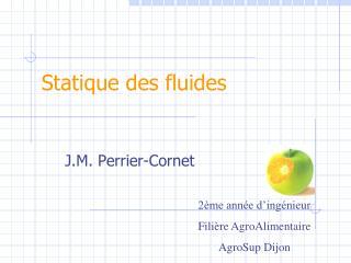 Statique des fluides