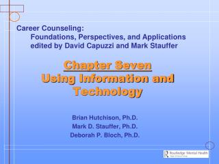 Chapter Seven Using Information and Technology