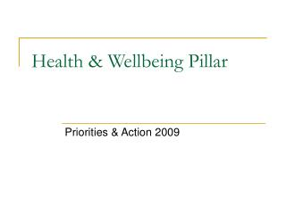 Health & Wellbeing Pillar