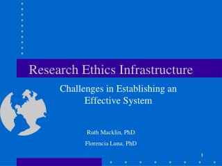 Research Ethics Infrastructure