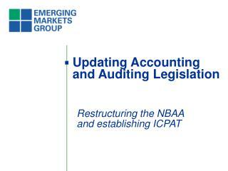 Updating Accounting and Auditing Legislation