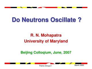 Do Neutrons Oscillate ?