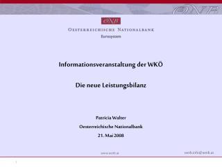 Informationsveranstaltung der WKÖ Die neue Leistungsbilanz