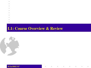 L1: Course Overview & Review