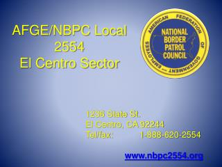 AFGE/NBPC Local 2554 El Centro Sector
