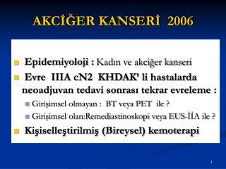 AKCİĞER KANSERİ  2006