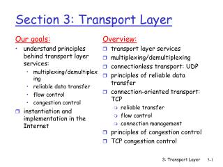 Section 3: Transport Layer