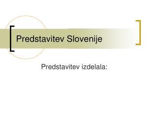Predstavitev Slovenije